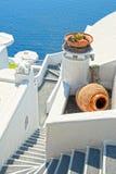 Santorini. Island of Greece with white houses Stock Photo