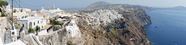 Santorini. Island of Greece with white houses Stock Image