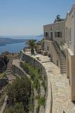 Santorini. Island of Greece with white houses Stock Photography