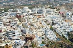 Santorini. Island of Greece with white houses Royalty Free Stock Photos