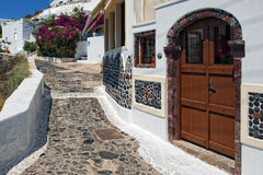 Santorini. Island of Greece with white houses Royalty Free Stock Photography