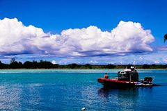 Island of Guam Fire Rescue boat Stock Photos