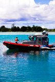 Island of Guam Fire Rescue boat Royalty Free Stock Image