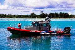 Island of Guam Fire Rescue boat Royalty Free Stock Photo