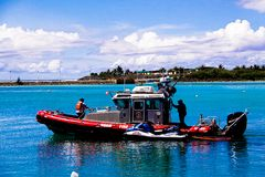 Island of Guam Fire Rescue boat Stock Images