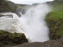 Island - gullfoss Arkivfoto