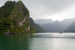 Island Ha Long Bay, Vietnam. Royalty Free Stock Image