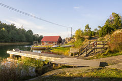 The island Harstena in Sweden. Island Harstena in Sweden. Only a few families are living on this beautiful and peaceful island at the South coast of Sweden.  It Royalty Free Stock Images
