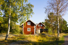 Island Harstena in Sweden. Red cottages on the island Harstena in Sweden, principally known for the seal hunting that was once carried out there. It is now a Royalty Free Stock Images
