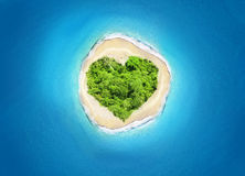 Island heart shape Stock Photo