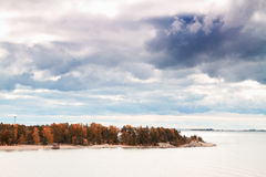 Island Helsinki in autumn Royalty Free Stock Photo