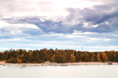 Island Helsinki in autumn Stock Photos