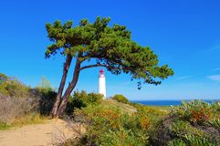Island Hiddensee, the Dornbusch lighthouse stock photo