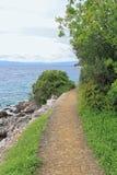 Island Hiking Trail Stock Photo