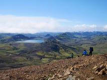 Island-Hochland-Wanderung lizenzfreies stockbild