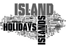 Island Holidays Word Cloud Concept Stock Image