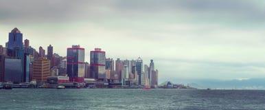 Island Hong Kong S.A.R. Rainy Hong Kong view from Kowloon Stock Image