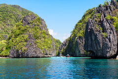 Island hopping in El Nido, Palawan - Philippines Royalty Free Stock Image