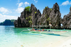 Island hopping in El Nido, Palawan - Philippines Royalty Free Stock Photography