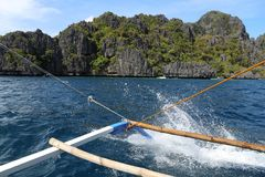 Island hopping tour. In Palawan island, Philippines Royalty Free Stock Photography