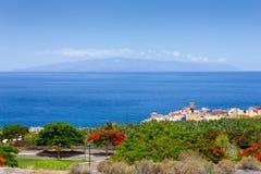 The island on the horizon. Royalty Free Stock Photo