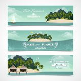 Island horizontal banners Royalty Free Stock Image