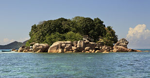 Island and hotel Chauve Souris Club in Indian Stock Image