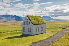 Island hus Fotografering för Bildbyråer