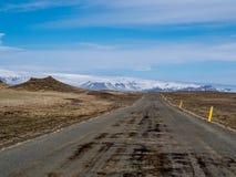 Island huvudväg Arkivbild