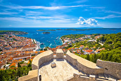 Island of Hvar and Paklinski islands view Royalty Free Stock Images