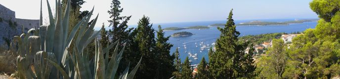 Island Hvar panorama - Croatia Royalty Free Stock Images