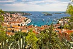Island of Hvar scenic coast Royalty Free Stock Image