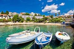 Island of Hvar turquoise beach Stock Image