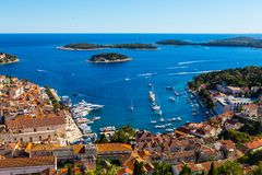 Island Hvar, view from fortress. Island Hvar, Croatia, view from fortress Stock Image