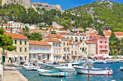 Island of Hvar waterfront architecture Stock Photos
