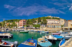 Island of Hvar waterfront view Royalty Free Stock Images