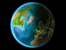 Island i aftonen Royaltyfri Bild