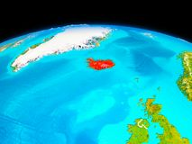 Island i rött Arkivbilder