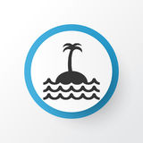 Island Icon Symbol. Premium Quality Isolated Reef Element In Trendy Style. Royalty Free Stock Photography