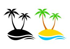Island icons Royalty Free Stock Photography