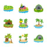 Island Icons Vector stock illustration