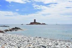 Island ill dor. Ill dor island Le Dramont Royalty Free Stock Image