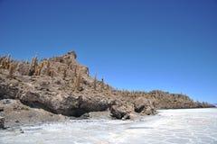 Island Inca Wasi - cactus island Royalty Free Stock Image