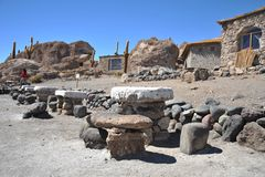 Island Inca Wasi - cactus island Royalty Free Stock Photo