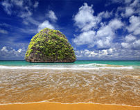 Island in Indian ocean Stock Image