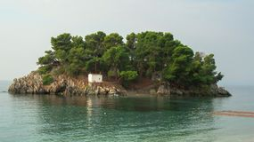 Island in the Ionian Sea. Cruise Paxi-Antipaxi in the Ionian Sea, Greece Royalty Free Stock Photo