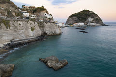 island of Ischia with santangelo view stock photo