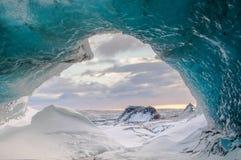 Island isgrotta fotografering för bildbyråer