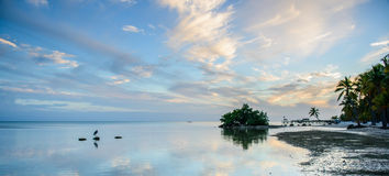 Island. Islamorada sky reflection Royalty Free Stock Image