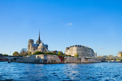 Island Isle de la Cite, Paris, France Royalty Free Stock Photos